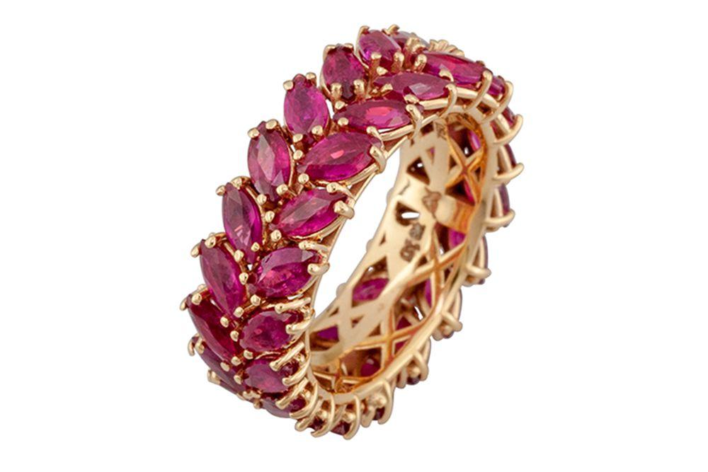 18k elegant jewellery, gold jewelry, precious stones, gold jewellery, ruby jewellery